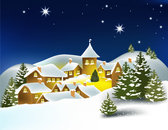 The Cartoon Christmas house background 02