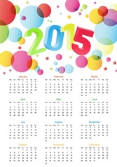 Colorful Calendar 2015