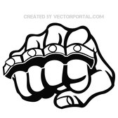 FIST AND KNUCKLE VECTOR STOCK.eps