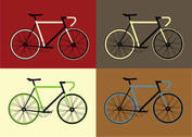 Free Vector Bicycle Vector Set