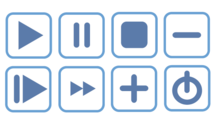 Blue Vector Icons Free