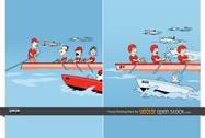 Funny Rowing Race