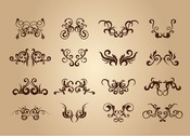 Set of Floral Vintage Vector Design Elements