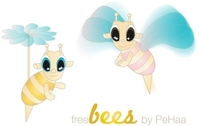 Free Bees Vector Characters