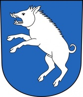 Coat Of Arms With White Pig