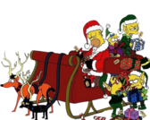The Simpsons Christmas PSD