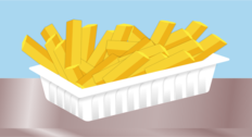 Fries without sauce