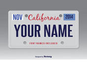 Vector License Plate