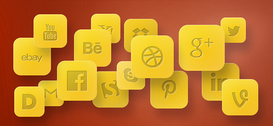 Social Icons PSD Set
