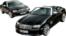 two Chrysler Crossfire's ( convertible and hard top ) PSD