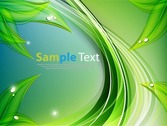 Abstract Green Wavy Lines Design