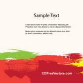 Colorful Brush Strokes Background Template