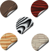 wOOd sTicKers PSD
