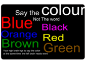 say the colour not the word
