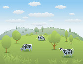 Vector Cow Pasture Material