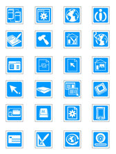 Blue Vector Technology Exquisite Icons - Vector Material Delicate Blue Technology
