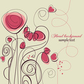 Floral hand-painted background vector-3
