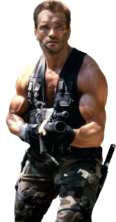 "Arnold Schwartzenegger as ""Dutch"" From Predator PSD"