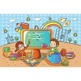 Kids Playing With Television, Free