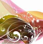 Swirly Floral Abstract Background