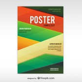 Geometric abstract poster template