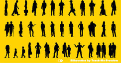 Business Silhouettes Free