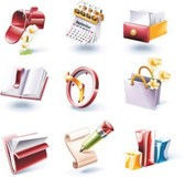Stock Ilustrations 3D IconSet