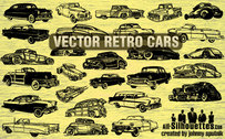 27 coches Retro vector