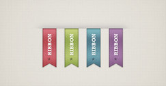 Free PSD vertical ribbons
