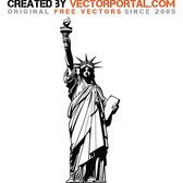 STATUE OF LIBERTY VECTOR GRAPHICS.eps