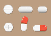 Free Vector White Pills Vectors