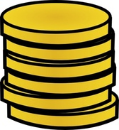 Gold Coins In A Stack