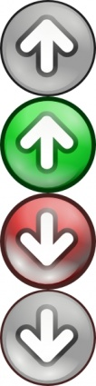 Shiny Green Red Voting Arrows