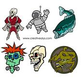 MONSTERS VECTOR PACK.eps