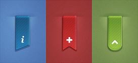 3 Free PSD Ribbons Set