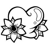 HEART AND FLOWER VECTOR IMAGE.eps