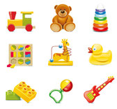 Beautiful toys for children vector-5