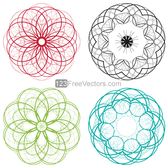 Vector Circle Decorative Design Elements Set-3