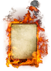 Sign on Fire PSD