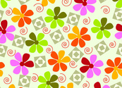 Fresh and lively flower vector background 3