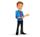 Charming Businessman Vector Character