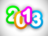 Free New 2013 year greeting card vector-5