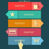 Shopping flat infographics design