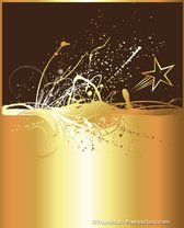 Golden Splash Background