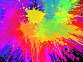 Bunte hell Ink Splat Design