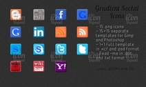 Gradiente Social Icon Pack