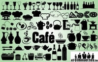 Creative Icon Pack of Cafe Restaurant