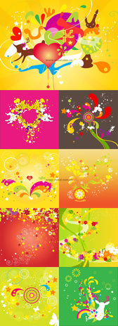 Colorful Background Of The Trend Pattern Vector Graphic - U