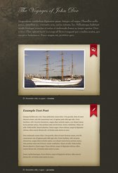 The Mariner Tumblog Free PSD Template