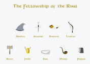 The Lord of the Rings Vectors - The Fellowship of the Ring Nine Companions